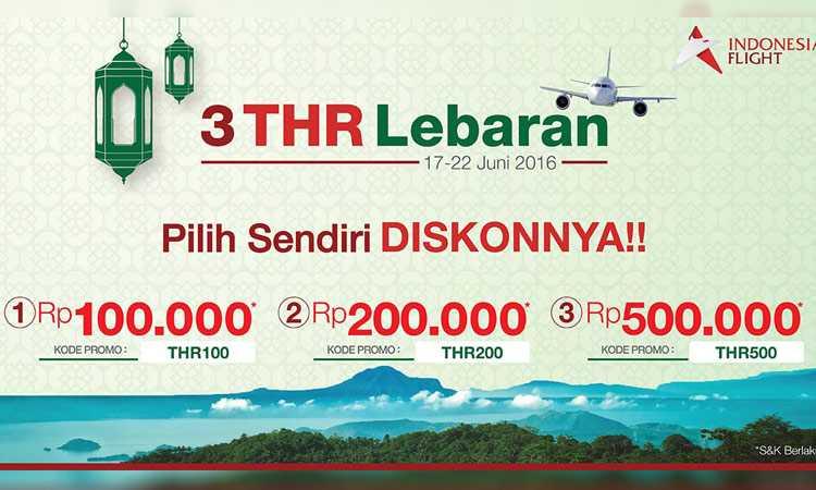 Tiket Pesawat Thr Lebaran Diskon Up To Rp 500k Travelspromo