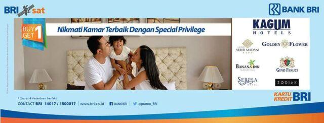 Promo Hotel Kartu Kredit BRI gratis menginap 1 malam di Kagum Hotel Bogor, Bandung, Bali, Yogyakarta, Medan.