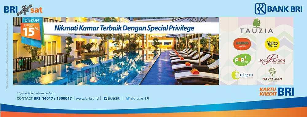 Promo Hotel kartu kredit BRI di Jaringan Hotel Tauzia seperti Harris Hotel 0e2878df37