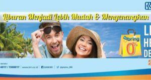 Nikmati cicilan 0% pembelian paket tour atau tiket pesawat serta hotel di Nusantartour menggunakan kartu kredit BRI.