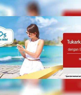 Promo Tiket Pesawat Telkomsel Poin Diskon Rp 150K cukup dengan menukar 20 poin lakukan pembelian di Panorama tours periode hingga 31 Desember 2016.