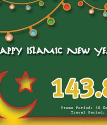 Promo tiket pesawat airpaz diskon hingga Rp 143.800 khusus tahun baru hijriah.