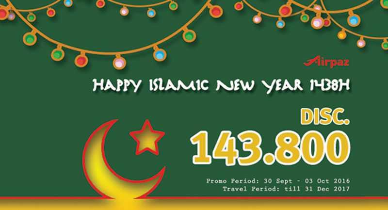 Airpaz Bagikan Diskon Tiket Pesawat Rp 143 800 Tahun Baru Hijriah Travelspromo