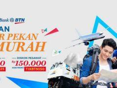 promo tiket pesawat dan kereta tiket.com gunakan debit online bank btn.