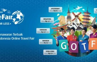 Garuda Indonesia Online Travel Fair Bak BRI diskon hingga 4 Juta rute domestik dan Internasioanal