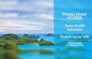 Promo Hotel Agoda dari berbagai kartu kredit dapatkan diskon hingga 10%