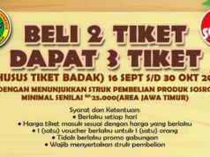 Nikmati tiket masuk harga hemat di Taman Safari Prigen dengan Promo dari Teh Botol Sosro beli 2 Tiket Masuk gratis 1 tiket.