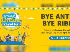 Tiket Pesawat Luar Negeri Murah di Traveloka Online Travel Fair.