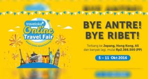 Tiket Pesawat Luar Negeri Murah di Traveloka Online Travel Fair.