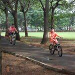 Fun Bike salah satu aktivitas yang bisa dilakukan di Eco Green Park Ancol