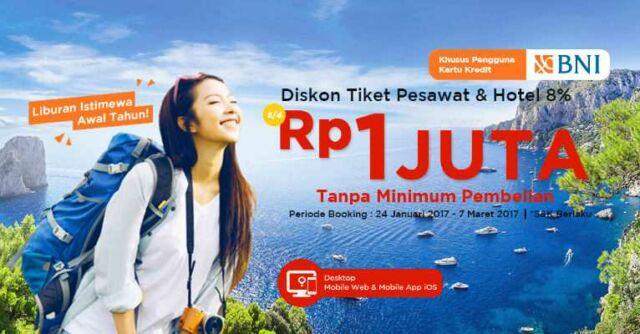 Promo Tiket Pesawat BNI
