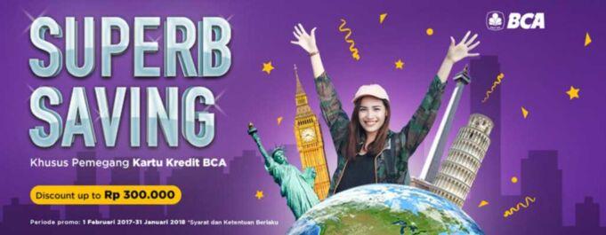 Promo Pergi.com BCA diskon hote dan tiket pesawat up to RP 300.000