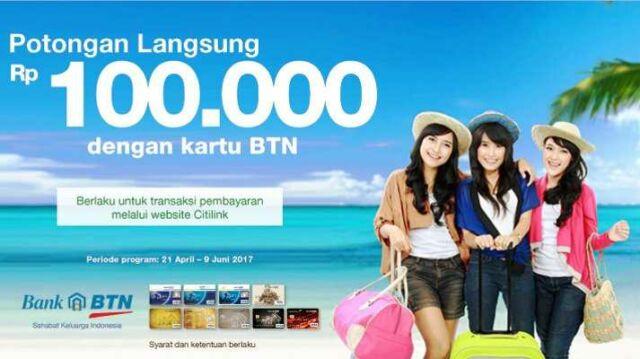 Promo Citilink Bank BTN