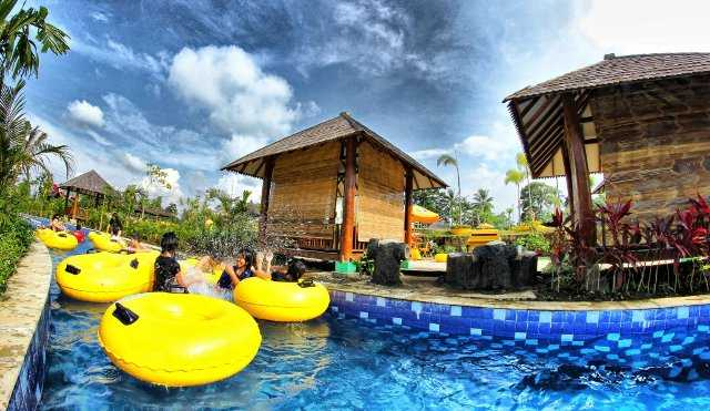 wahana kolam arus sangkan resort aqua park
