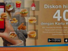 Promo McDonald's Kartu Kredit Bank