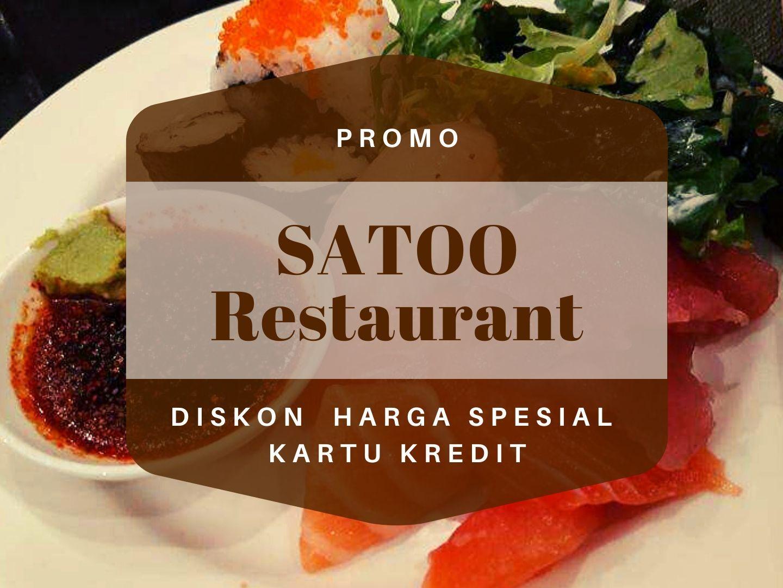Promo Restoran Satoo Buy 2 Get 4 Buffet Travelspromo