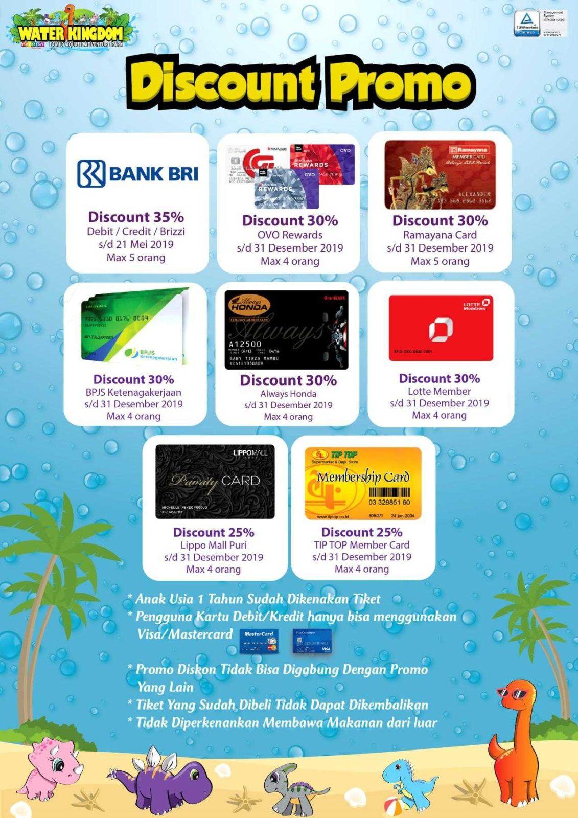 Promo Water Kingdom Mekarsari Diskon 30% s.d Desember 2019