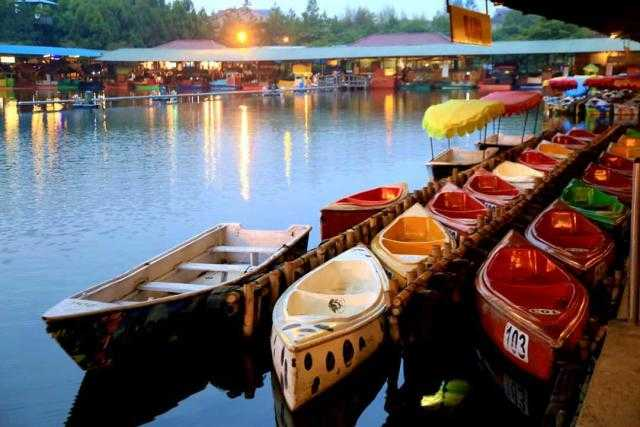 Image result for floating market lembang