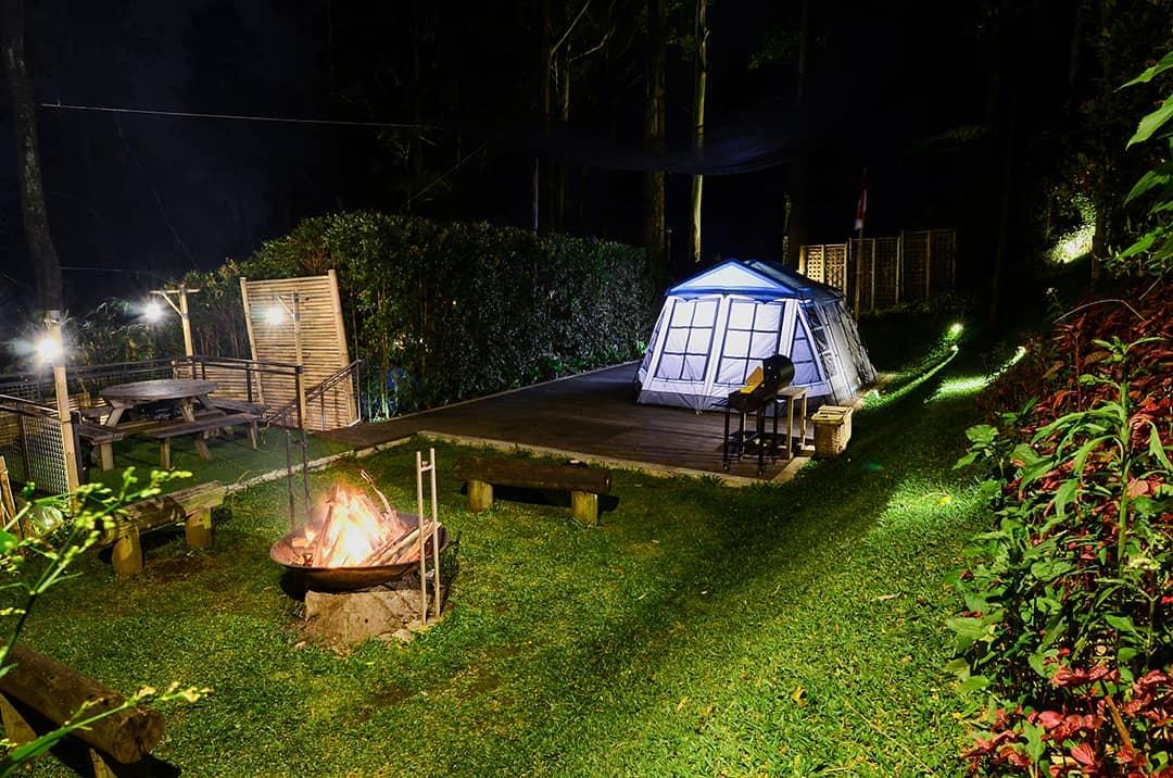 glamping glamour camping di alam terbuka