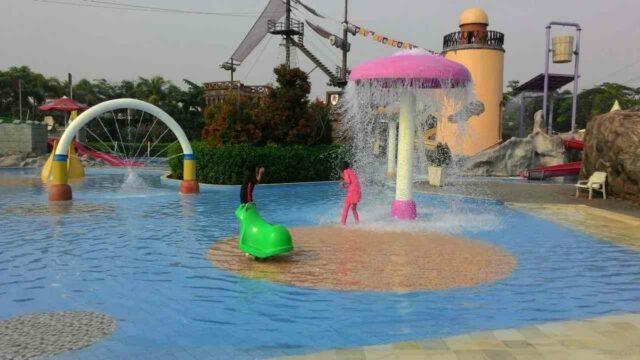 wahana air mancur anak-anak colombus waterpark