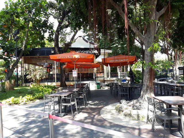 fasilitas restoran di dalam area dufan
