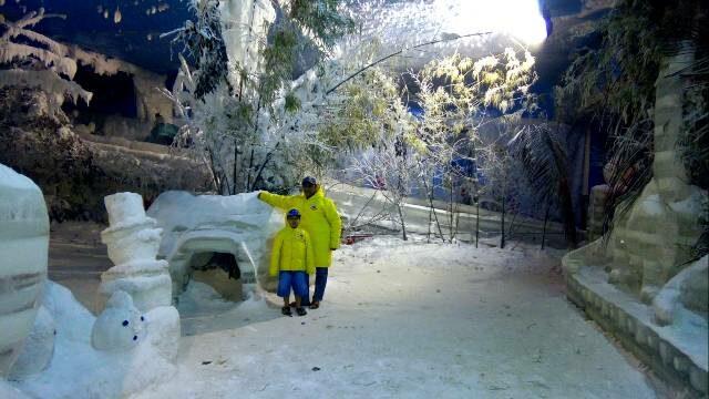 foto menawan di salju