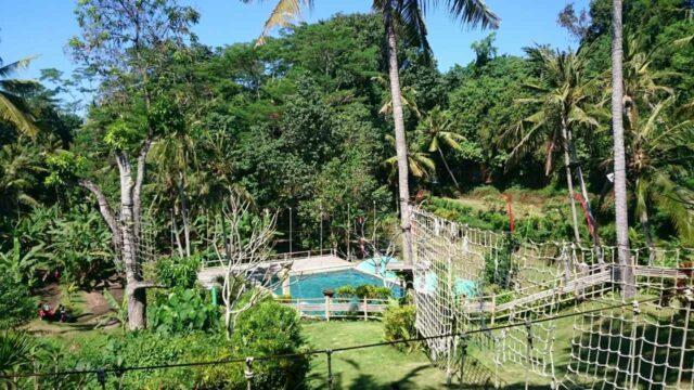 area outbond dan kolam renang keramas park