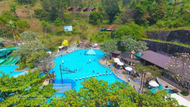 beragam wahana dan kolam permaian air di taman dayu waterpark