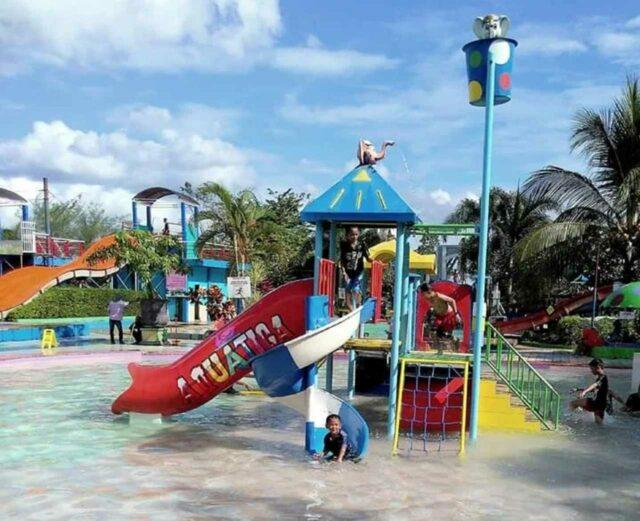 kolam dan wahana permainan anak aquatica waterpark
