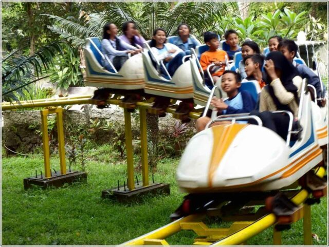 wahana non air roller coaster mini