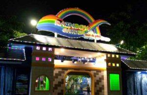 pintu masuk rainbow garden bekasi