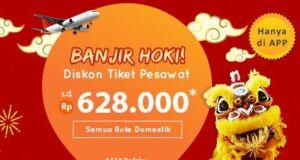 Promo Tiket Pesawat Imlek diskon hingga Rp600.000