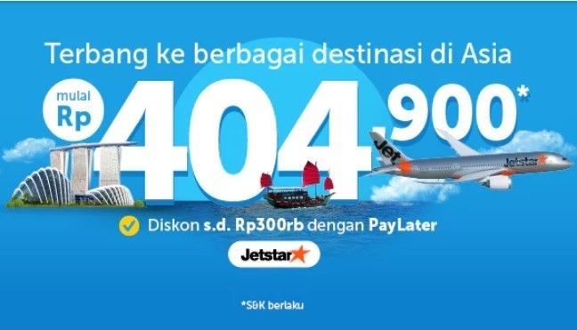 Promo Jetstar Traveloka Apps Tiket Mulai Rp400 00an Diskon
