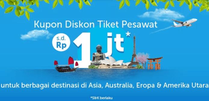 Promo Tiket Pesawat Aplikasi Traveloka Diskon Rp1 000 000 Rute Eropa Asia Australia Travelspromo