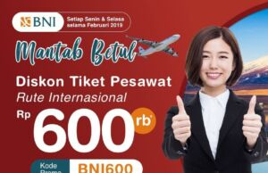 Tiket Pesawat Internasioanl Kartu Kredit BNI Indonesian Flight Apps