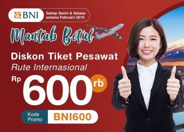 Tiket Pesawat Internasioanl Kartu Kredit BNI Indonesian Flight Apps
