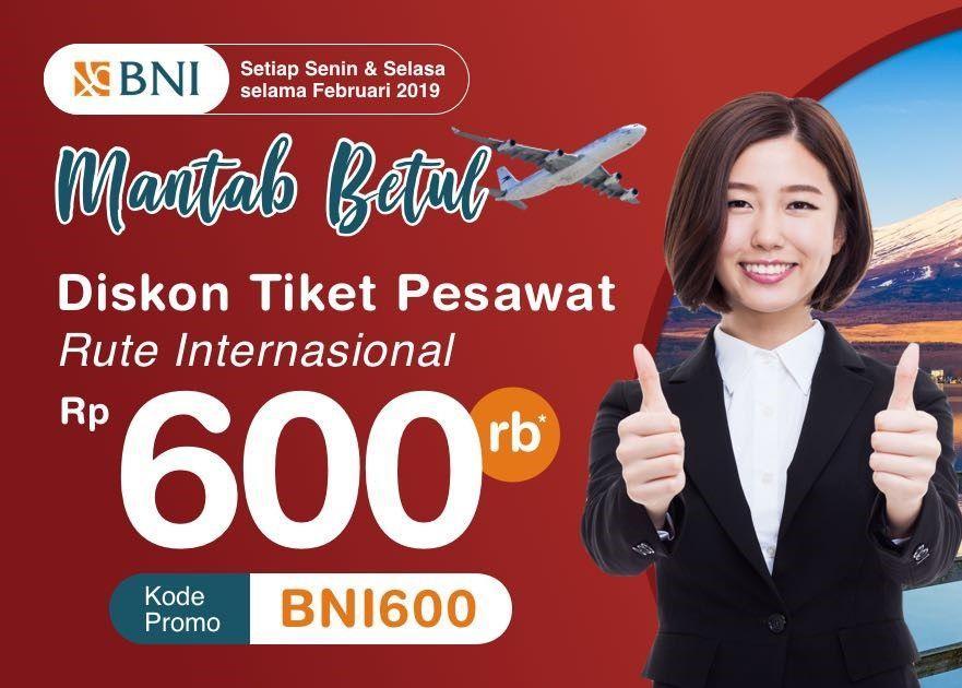 Diskon Rp600 000 Tiket Pesawat Internasional Kartu Kredit Bni Indonesian Flight Apps Travelspromo