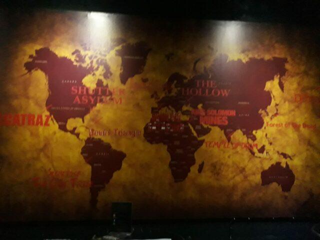Peta lokasi asal misteri
