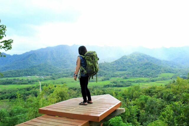 spot foto di ketinggian bukit