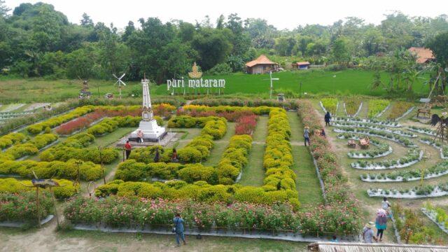 Puri Mataram Sleman taman bunga
