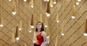 Spot foto terfavorit cone terbalik Ice Cream World Bali
