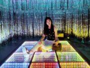 spot foto ribuan lampu warna warni