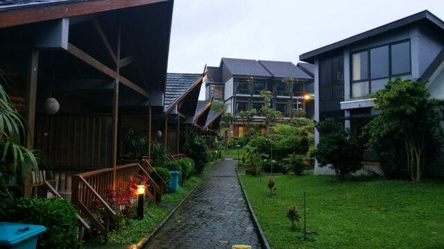 Jajaran Cottage yang ada di Ciwidey Valley Resort