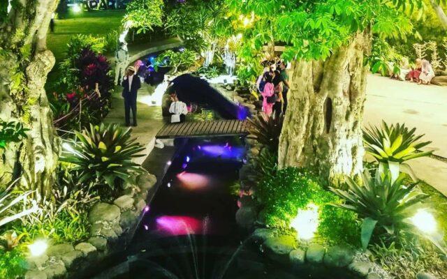 Susasan romantis peta park malam hari