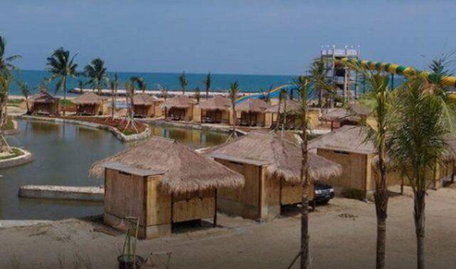 Saung penginapan di Coconut Island