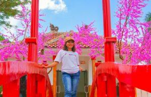 Taman Jepang bunga sakura