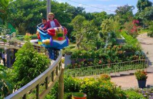 wahana permainan roller coaster taman prawatasari cianjur