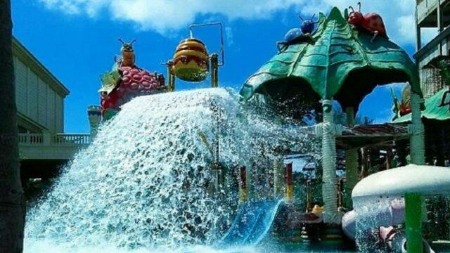 wahana kolam tumpah jambooland waterpark tulungagung