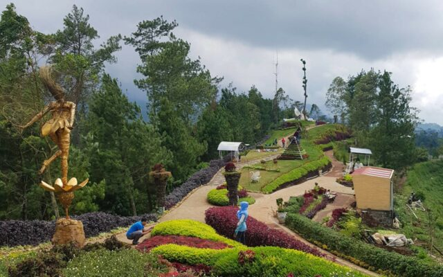 area taman di pegunungan