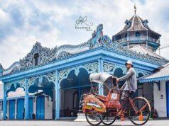 Bagian depan Keraton Surakarta Hadiningrat Solo Jawa Tengah